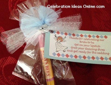bridalshower favor to make yourself using lipstick or lip gloss printable favor tag is so cute engagementbridal showerbachelorette pinterest