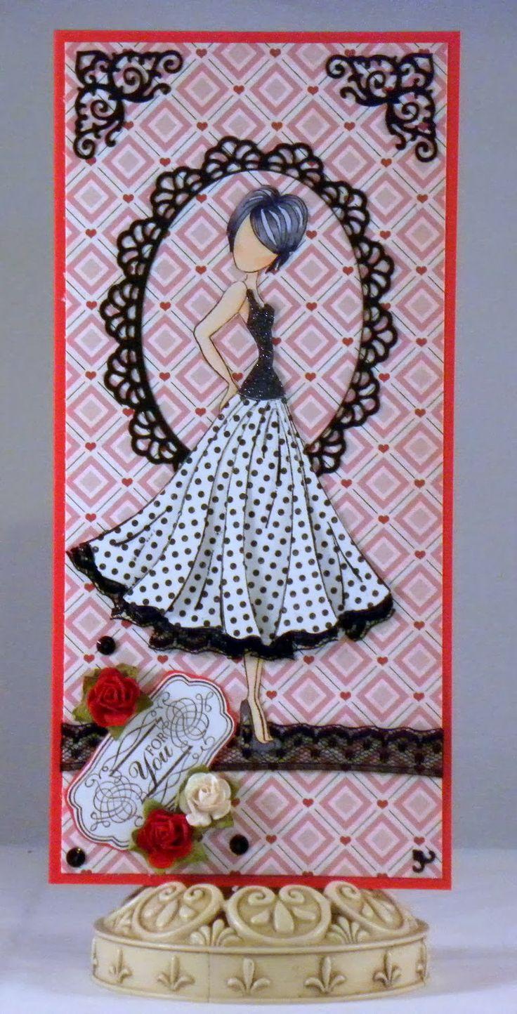 Loves Rubberstamps Challenge Blog: Challenge 88 - Use Lace - Design Team Member  - Holly Flores - Using Prima Dolls