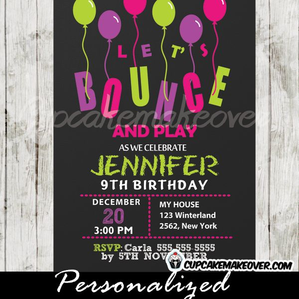17 Best Images About Bounce House Party Printables On