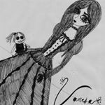 "29 Me gusta, 1 comentarios - Vanesa Von Liebhaber (@gothxlolita) en Instagram: """"We are all just monsters in disguise""  #drawing #draw #sketch #doll #cute #gothic #darkart…"""
