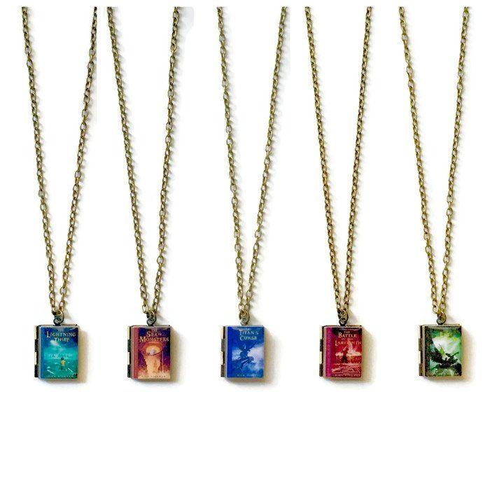 Percy Jackson Series Book Necklace - LitLifeCo.
