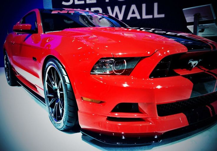 Red Ford 2015 Mustang #2015Mustang
