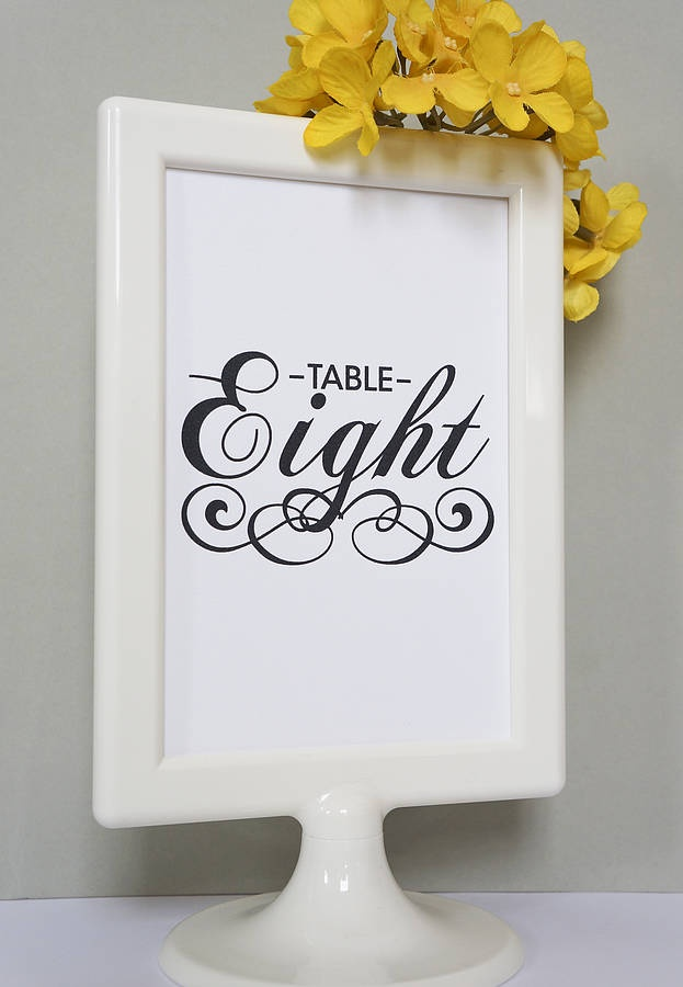 Black And White Vintage Table Number Cards by doodlelove