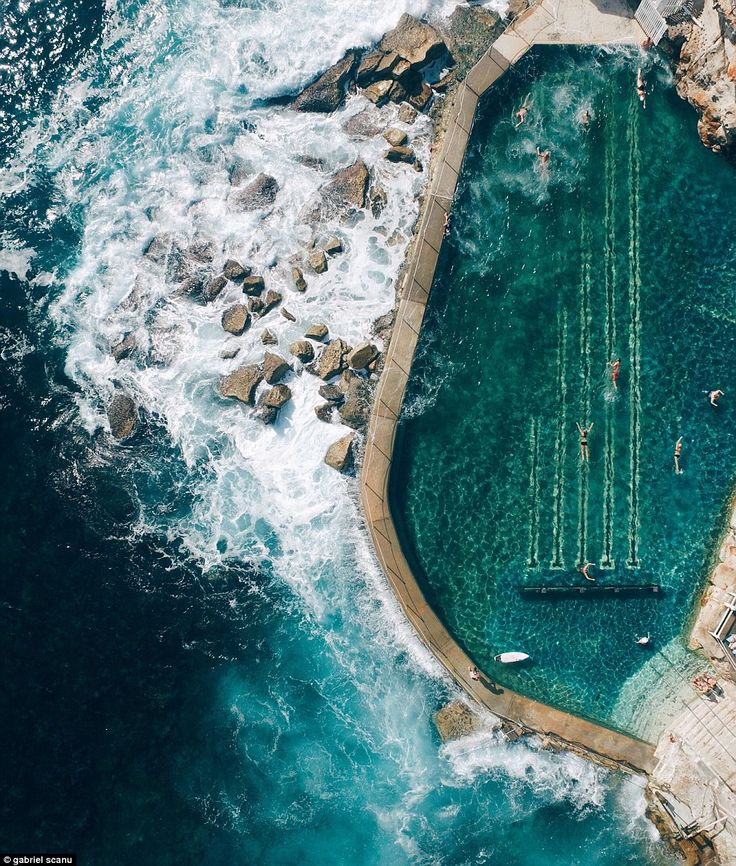Off to a flying start! A stunning aerial snap of Sydney's Bronte beach from photographer Gabriel Scannu