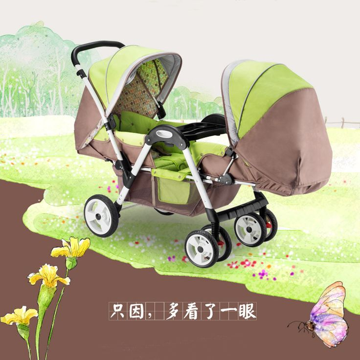 Combi Stroller Pink Lightweight Twins Stroller Double Baby Stroller To Sit