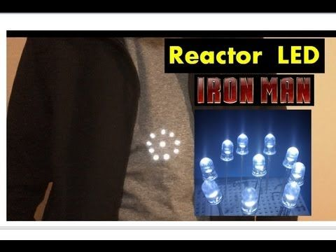 ✅ Linterna LED y Reactor de IRON-MAN (Como se hace)