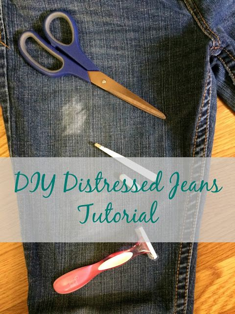 Real Girl's Realm: Distressed Jeans Tutorial