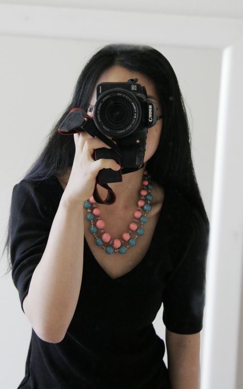 DIY dress and polymer clay necklace