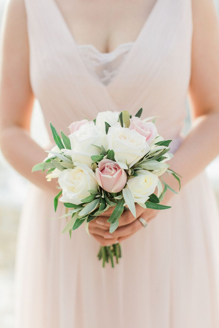Pink and cream rose bouquet: Photography: Anna Roussos - Photographer - annaroussos.com   Read More on SMP: http://www.stylemepretty.com/2016/07/22/mykonos-island-greece-destination-wedding/