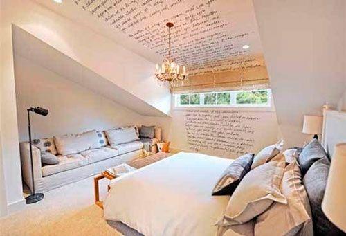 Кабинет и спальня в мансарде