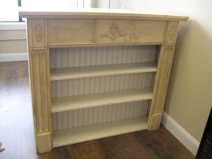 Primitive Antique Repurposed Fireplace Mantel Shelf Bookcase