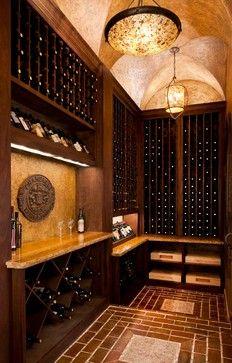 Sharif & Munir Kelsey Spec Hom mediterranean-wine-cellar