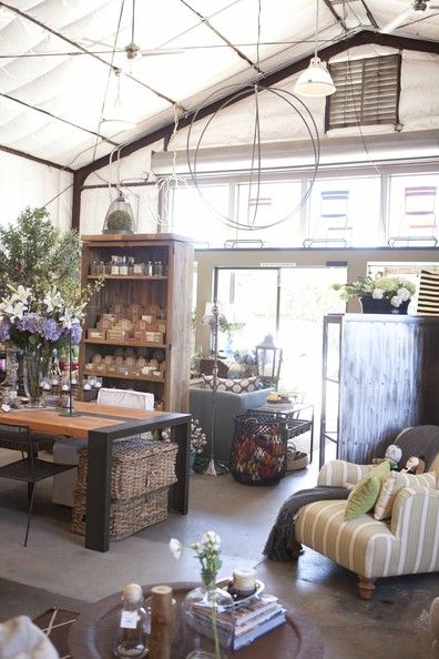 Retail Store Design - Rustic yet polished merchandise displays at Napa Valley's Poor House