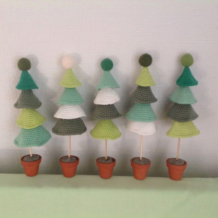 Hæklet juletræ gratis opskrift