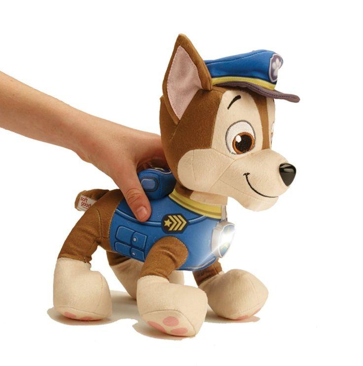 Paw Patrol Stuffed Dog Plush Animal Plushie Lights Up