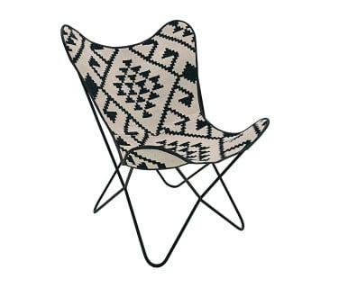 Silla Yeki - blanco y negro