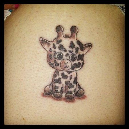 My cute giraffe tattoo