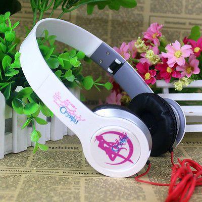 sailor moon earphone fashion deep bass headset phone/computer headphone new