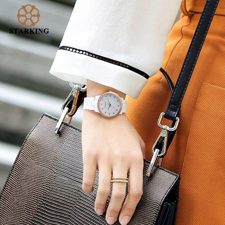 STARKING Ceramic Diamond Watches Women Bracelet Wrist Watch Ladies Quartz Watch Rose Gold Dress Watches BL0962 relojes mujer-in Women's Watches from Watches on Aliexpress.com | Alibaba Group