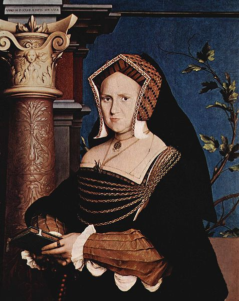 Portrait of Mary Wotton, Lady Guildenford by Holbein. Date: 1527, Located in the Saint Louis Art Museum