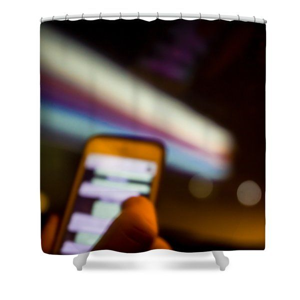 Will Be At Home In 5 Minutes Shower Curtain by Cesare Bargiggia