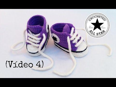 PATUCOS BEBÉ ALL STAR A CROCHET PASO A PASO CON VÍDEO TUTORIAL | Patrones Crochet, Manualidades y Reciclado
