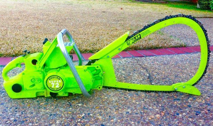 Kawasaki green Poulan Chainsaw