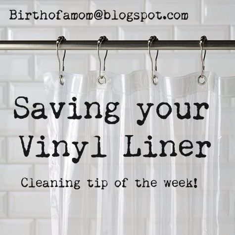 save your vinyl shower curtain liner! i am doing this today!