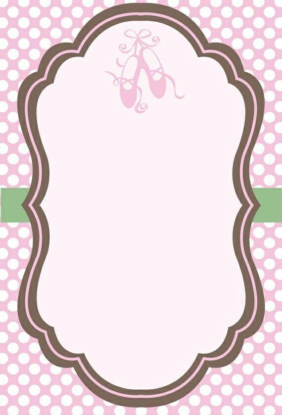 Baby shower girl ballerina invitation invitacion bailarina baby shower