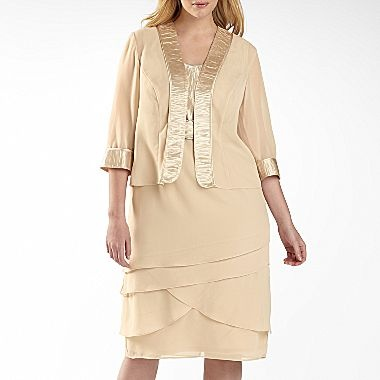 Dana Kay Ring Front Jacket Dress Plus Sizes Jcpenney