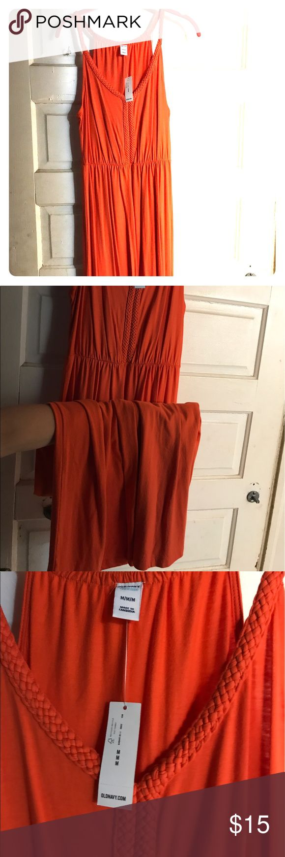 Old Navy orange Maxi dress! Old Navy orange Maxi dress. Never worn, NWT. Great for clemson football games! Old Navy Dresses Maxi