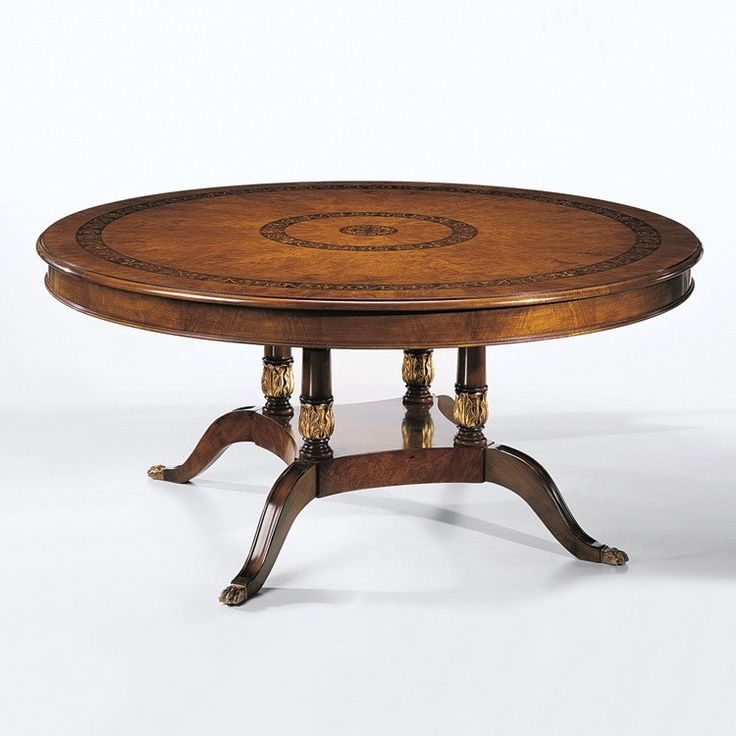 decorative crafts inlaid wood dining table 1438 - Dining Table Round Wood