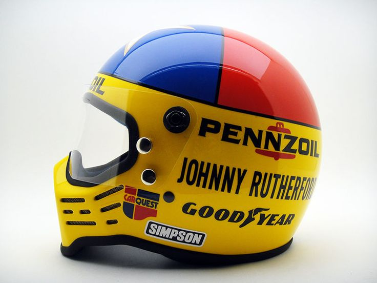 Johnny Rutherford Simpson Vintage Replica Helmet Racing Racer Indy 500 NASCAR | eBay