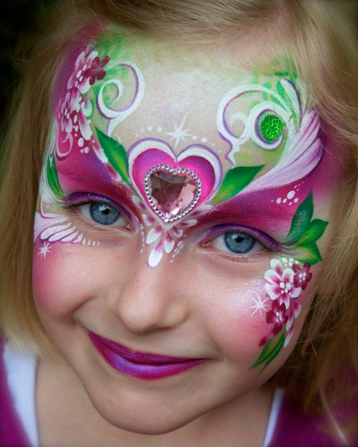 cool party face painting ideas for girls 2015 trendyoutlookcom - Halloween Face Painting For Girls