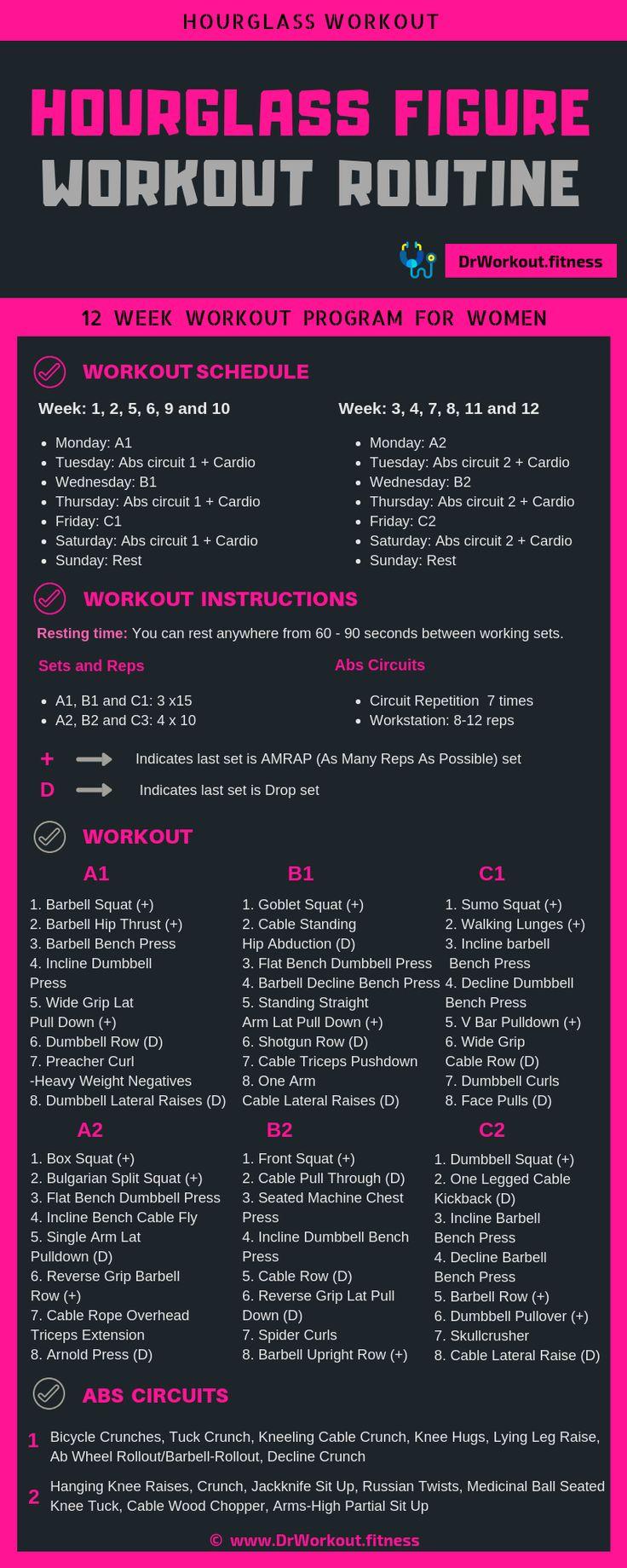 Hourglass figure workout plan – Women's Workout Plan