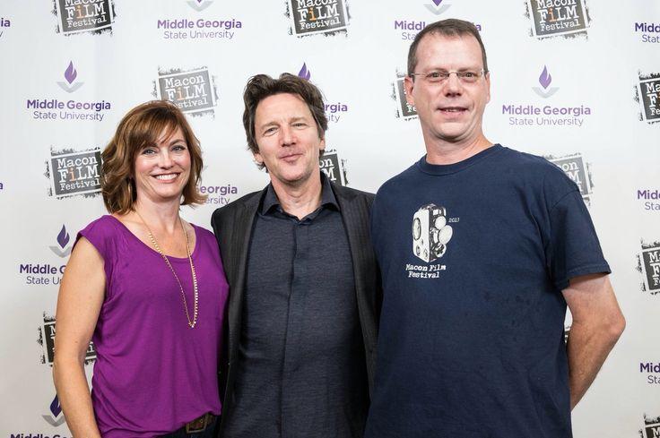 Alicja & John Griffin with Andrew McCarthy at VIP Sponsor Meet & Greet. #MaconFilmFest
