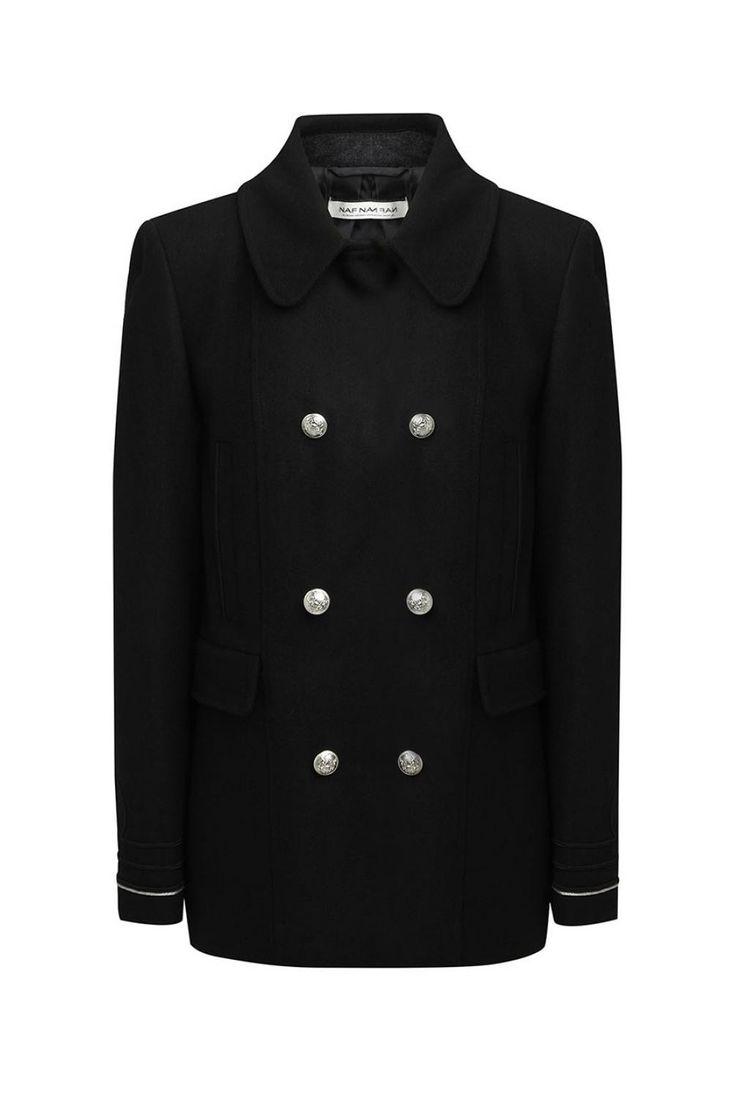 Naf naf manteau marin noir 1
