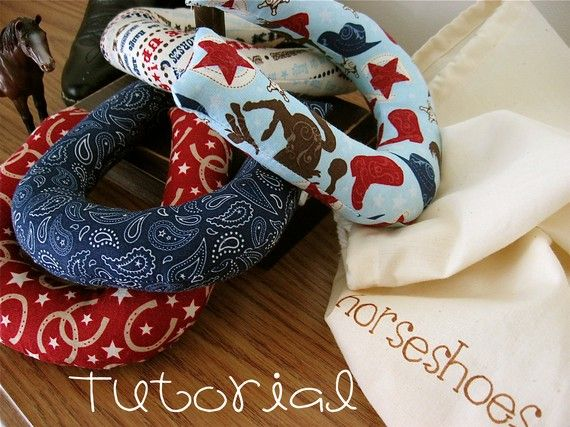 need to make these too!    Indoor Horseshoe Set by sweetmellyjane