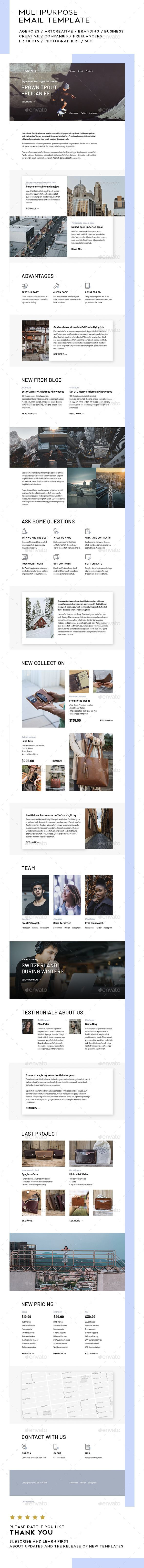 #Courtney / Multipurpose Email Template - #E-newsletters Web Elements