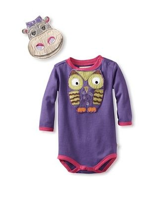 75% OFF Pickle Peas Baby Long Sleeved Bodysuit and Bib Bundle (Purpleicious/Berry)