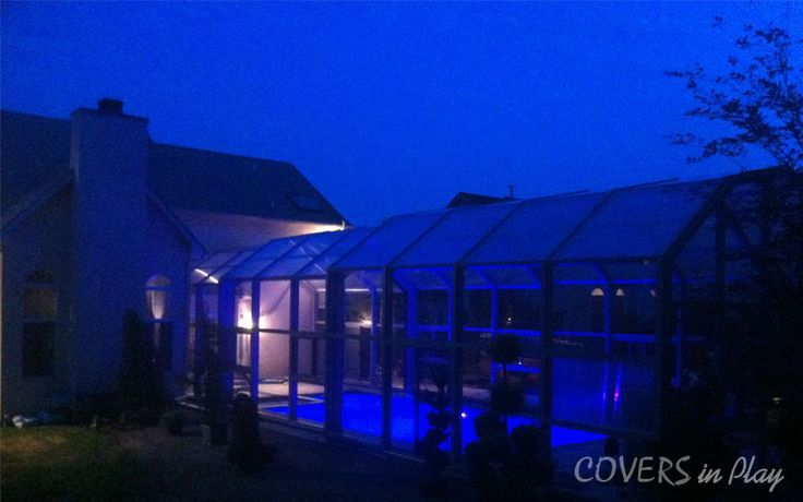 Don't forget the lighting! The key advantages of an enclosure are that it will stay comfortable even after dark.http://www.coversinplay.com/brochure/Covers-in-Play-Brochure2.pdf#Pool #PoolCover #Cover #Enclosure #PoolEnclosure #IndoorPools #PatioEnclosures #PoolDesigns #SwimmingPool #EndlessPool #RectractablePool  #GroundPool