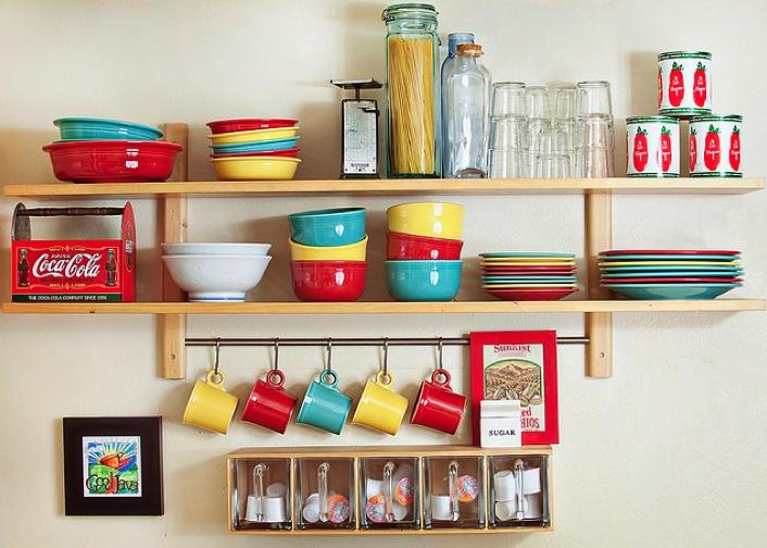 love the fiestaware: Decor, Organization, Color, Small Kitchens, Small Spaces, Kitchen Ideas, Party Ware