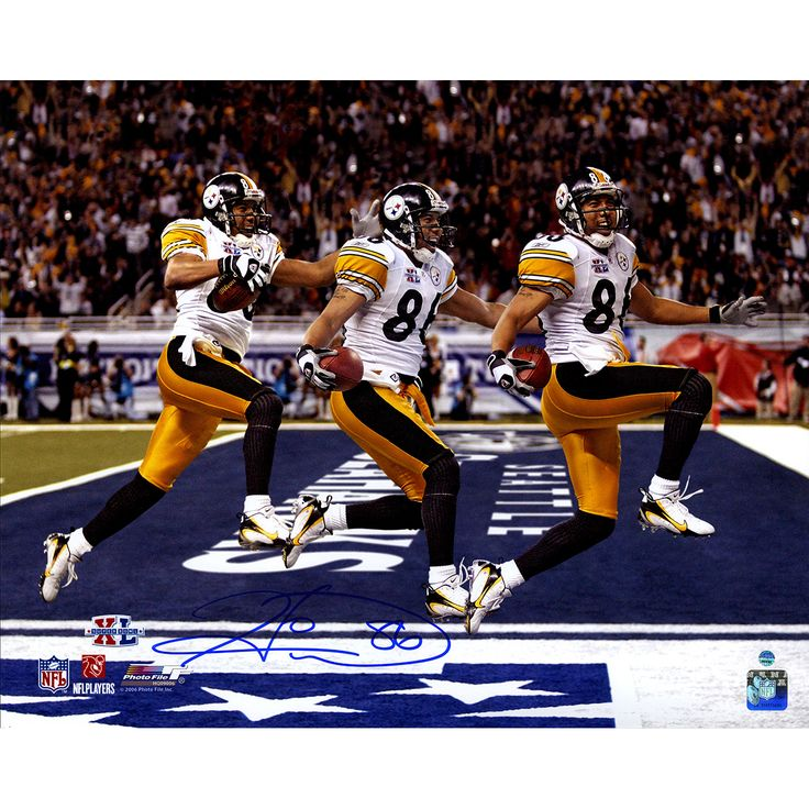 Steiner Hines Ward Signed Super Bowl 43 Triple Exposure 16x20 Photo