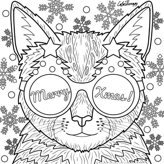 494 best Cats + Dogs Coloring Pages for Adults images on ...