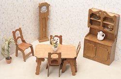 Dollhouse Furniture Kit Dining Room