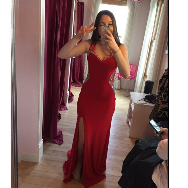 Sexy Red Prom Dress Evening Party Gown pst0740