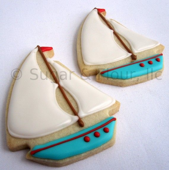 Cookie Party Favors | TOY SAILBOAT Sugar Cookie Party Favors 1 Dozen by sugarandflour