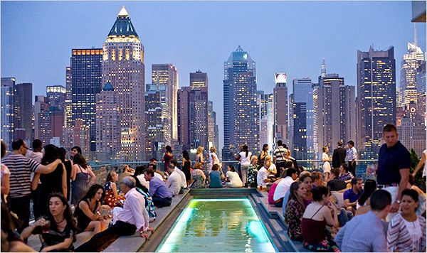 Ink48 Rooftop (NYC) - a gorgeous place to go for a night cap with friends - Hell's Kitchen