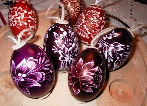 Kalocsai festett húsvéti tojások