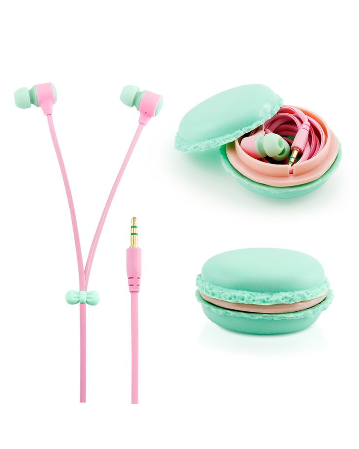 Colorful Earbud Headset with Macaron Case